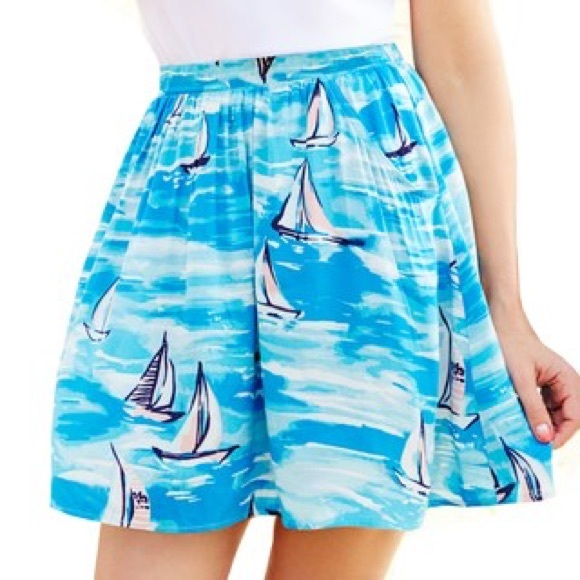 LC Lauren Conrad Dresses & Skirts - Lauren Conrad Blue Sailboat Skirt